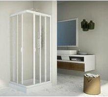 Box doccia scorrevole acrilico e pvc bianco