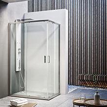 Box doccia scorrevole angolare reversibile 75x90