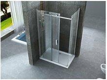 Box doccia scorrevole con anta fissa in cristallo