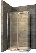 Box doccia scorrevole - EX802-80 x 120 x 195 cm -
