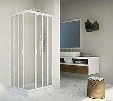 Box doccia scorrevole in acrilico e pvc bianco