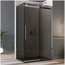 Box doccia scorrevole in cristallo 8mm nero fumè