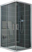 Box doccia scorrevole vetro trasparente h 185 mod.
