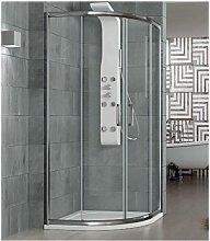Box doccia semicircolare 70x90 cm trasparente -