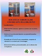 Box Doccia Semicircolare 80X80 Apertura Centrale