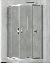 Box doccia semicircolare 80x80 cm cristallo