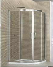 Box doccia semicircolare 80x80 cm opaco altezza
