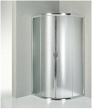 Box doccia semicircolare 80x80 cm opaco serie n