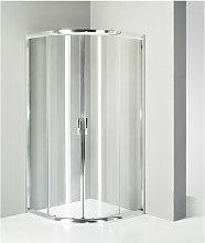 box doccia semicircolare 80x80 cm trasparente