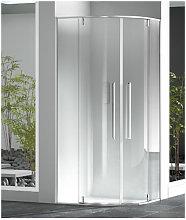 Box doccia semicircolare 90x100 cm trasparente zen
