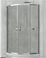 Box doccia semicircolare 90x90 cm cristallo