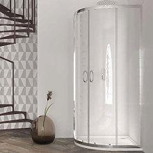 Box doccia semicircolare 90x90 in cristallo da 6
