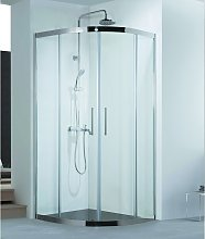 Box doccia semicircolare 90x90 struttura in