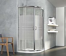 Box doccia semicircolare, in cristallo 6mm