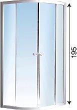 Box doccia semicircolare in cristallo 80x80