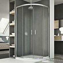 Box doccia semicircolare scorrevole vetro stampato
