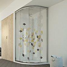 Box doccia semicircolare scorrevole vetro