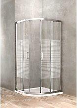 Box doccia semitondo 80 x 80 vetro serigrafato