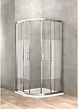 Box doccia semitondo 90 x 90 vetro serigrafato