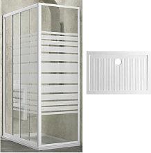 Box doccia slide 3 lati cristallo temprato