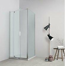Box doccia TOKYO porta battente quadrato 75x75 cm