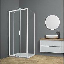 Box doccia TOKYO porta battente quadrato 80x80 cm