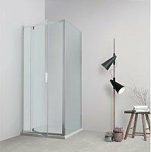 Box doccia TOKYO porta battente rettangolare 80x75