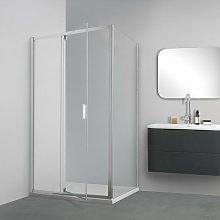 Box doccia TOKYO porta battente rettangolare 90x75