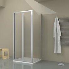 Box doccia TOKYO porta pieghevole quadrata 3 lati