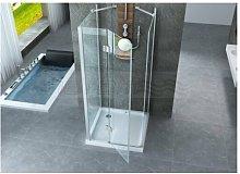 Box doccia tre lati porta battente e lati fissi