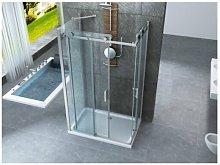 Box doccia tre lati scorrevole 8mm trasparente