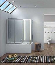 Box doccia vasca 150x80cm vetro trasparente p2000s