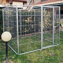 Box per cani singolo da esterno recinzione in rete
