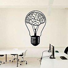 Brain Bulb Decalcomania Da Muro Ufficio Creativo