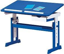 Bricoshop24 - Kit Scrivania Blu Tavolo da Disegno