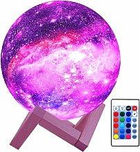Briday - 3D Moon Lamp Kids Night Light Galaxy Lamp