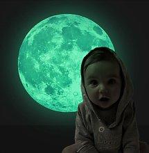 Briday - Adesivo murale luna fluorescente