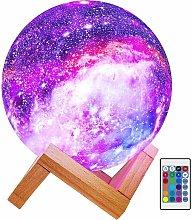 Briday - Moon Lamp Kids Night Light Lampada Galaxy