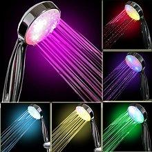 Briday - Soffione doccia a LED a 7 colori,