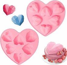 Briday - Stampi in silicone a forma di cuore da 2