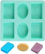 Briday - Stampo per sapone, stampo in silicone a 6