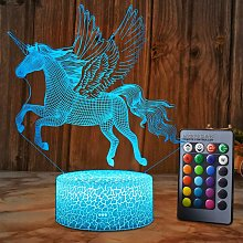 Briday - Unicorno LED Night Light Lampada Camera