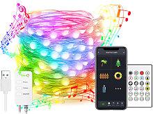BT Smart USB Filo di rame Luce LED String Light 16