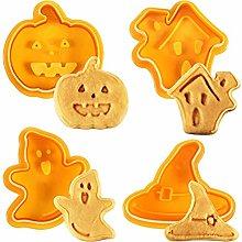 BTSEURY Set di formine per biscotti di Halloween,