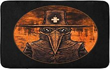 Bubonic Plague Doctor On Fire London Old Abstract