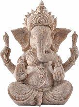 Buddha elefante statua in arenaria figurine della