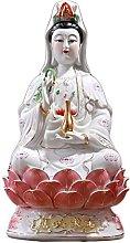 Buddha Statua Ceramica Guanyin Bodhisattva Statua