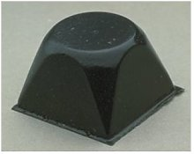 Bumpon adesivo paracolpi trasparente SJ5514 nero -