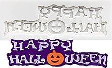 Buon Halloween Pattern Silicone Sugarcraft Stampo