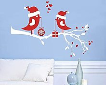 Buon Natale Con Uccellino E Regalo Sul Ramo